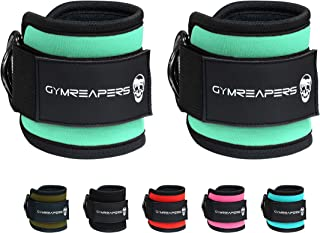 Gymreapers Ankle Straps (Pair) for Cable Machine Kickbacks, Glute Workouts, Lower Body Exercises - Adjustable Leg Straps w...