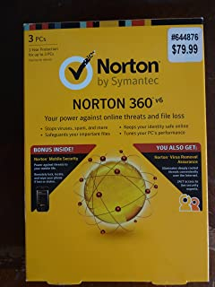 Symantec Norton 360™ v6 for 3 PCs