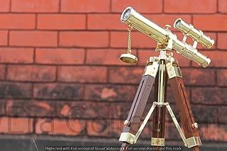 Nautical Spyglass telescopio latón pirata telescopio doble