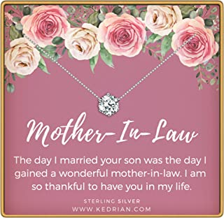 Mother in Law Necklace, 925 Sterling Silver, Mother in Law Gifts from Daughter in Law, Jewelry Gifts for Mothers Day for The Mother in Law, Pendant Gift Necklaces for Mother of The Groom