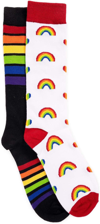 MUK LUKs Unisex 2 Pair Pack Knee High Pride Socks- Pride