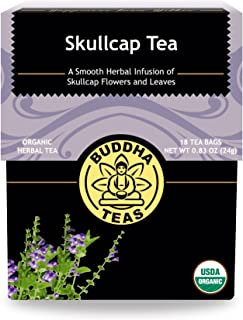 Organic Skull Cap Tea - Kosher, Caffeine Free, GMO-Free - 18 Bleach Tea Bags