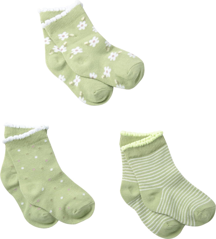 Country Kids Little Girls' Ditsy Daisy 3 Pack Socks
