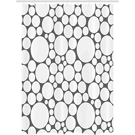 Details about  /Geometric Shower Curtain Vintage Lines Circles Print for Bathroom