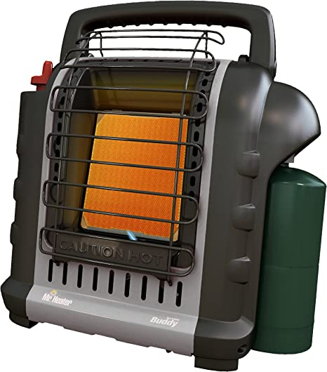 Mr. Heater F232017 MH9BXRV Buddy Grey Indoor-Safe Portable RV Radiant Heater (4,000-9,000-BTU): image