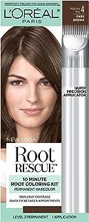 L'Oréal Paris Root Rescue Hair Color, 4 Dark Brown