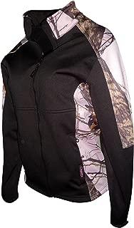 Mossy Oak Pink Snow Windproof Water Resistant Fleece Line Jacket Black S-3X
