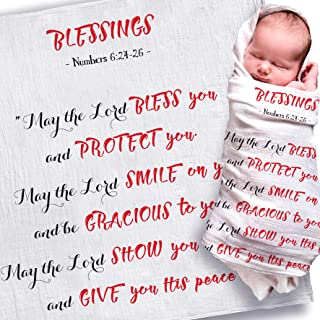Newborn Baby Gifts for Boys and Girls | Best New Baby Shower Gift | Baptism Gifts for Goddaughter, Godson, Godchild | Christening Gifts from Grandparents, Godparents (May The Lord)