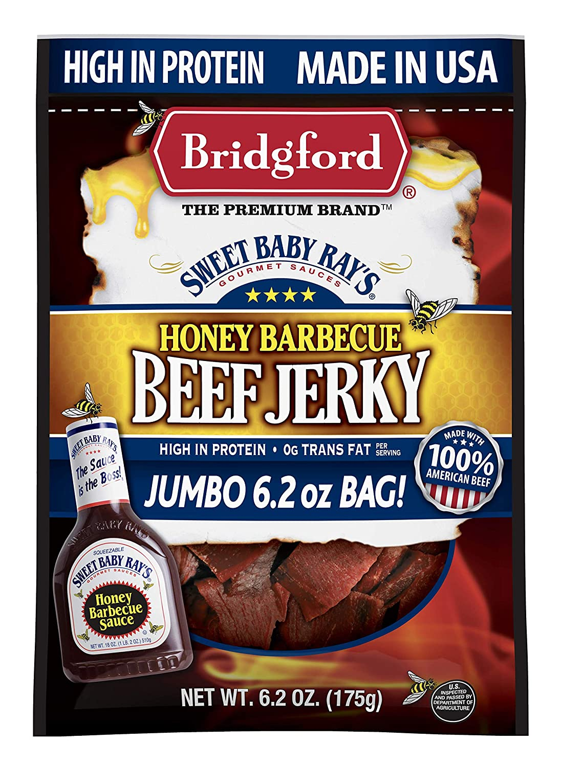 Bridgford Sweet Baby Max 51% OFF Rayx27;s Honey Pr High Beef Barbecue Limited time for free shipping Jerky