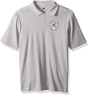adidas NCAA Miami Hurricanes Adult Men Crackled Badge S/Polo, Large, Grey