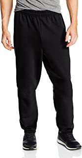 Hanes Men's EcoSmart Fleece Sweatpant, Black, Medium (Pack of 2)