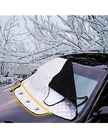 IREGRO Protector para Parabrisas,Parabrisas para Coche con cubierta de espejo Protege de Hielo,Sol,Nieve,Lluvia,viento y polvo,Funda Plegable Parabrisa Delantero Universal 230 x 220 x 175 cm