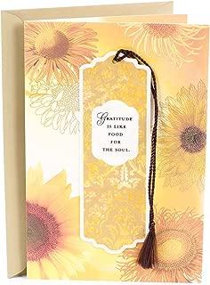 Hallmark Thanksgiving Card with Removable Bookmark (Gratitude)