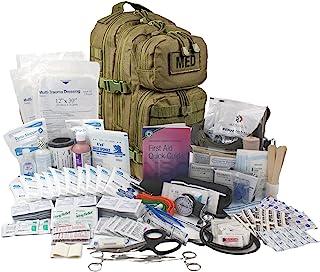 کوله پشتی تاکتیکی Luminary Tractical Trauma کاملاً مجهز به کوله پشتی EMS / EMT First Responder Medical Bug Out for Preppers Professionals and Outdoorsman (Olive Drab)