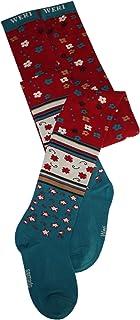 Weri Spezials Kinder Strumpfhose für Mädchen Mustermix in petrolrubin Baumwolle