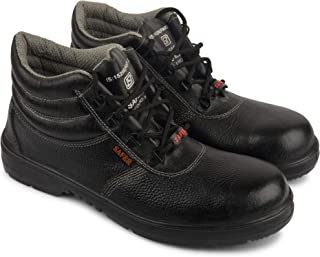 Aktion Safety Genuine Leather Shoes SA-209 - Size 9, Black