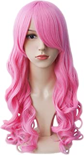 Another Me Wig Women's Long Big Wavy Hair 25 Inches Candy Pink Ultra Soft Heat Resistant Fiber Party Cosplay Accessories