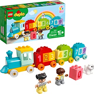 LEGO DUPLO اولین شماره قطار من - یاد بگیرید که چگونه 10954 اسباب بازی ساختمان را بشمارید. کودکان را با اعداد و شمارش آشنا کنید. جدید 2021 (23 قطعه)