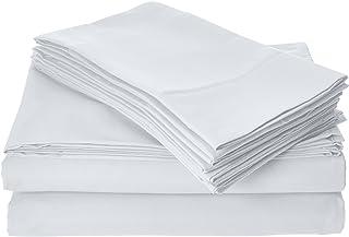 Home Basics Ultra Soft Brushed 6 Piece Microfiber 90GSM Sheet Set - Hypoallergenic, Full, White