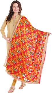 hand embroidery on dupatta