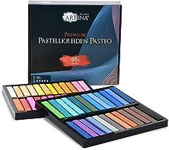 Artina 48er Pastellkreide Set Pasteo - Softpastellfarben in Studio Qualität als feine Kreide Stifte Softpastellkreide Weichpastell für die Kunst