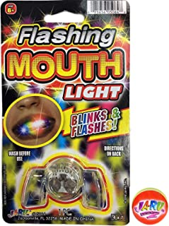 Flashing Mouth Piece by JA-RU and Bouncy Ball | Light Up Mouthpiece Party Fun | Item #5064-1slp