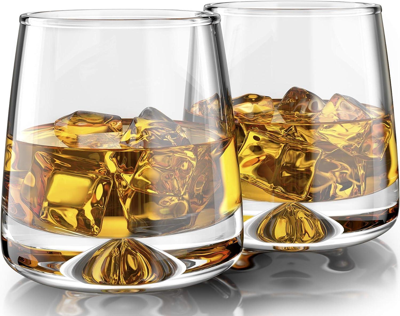 MOFADO Crystal Whiskey Glasses - Modern 2 cheap 11oz of 2021 Hand Set