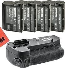 Battery Grip Kit for Nikon D7100, D7200 Digital SLR Camera Includes Qty 4 Replacement EN-EL15 Batteries + Vertical Battery Grip + More!!