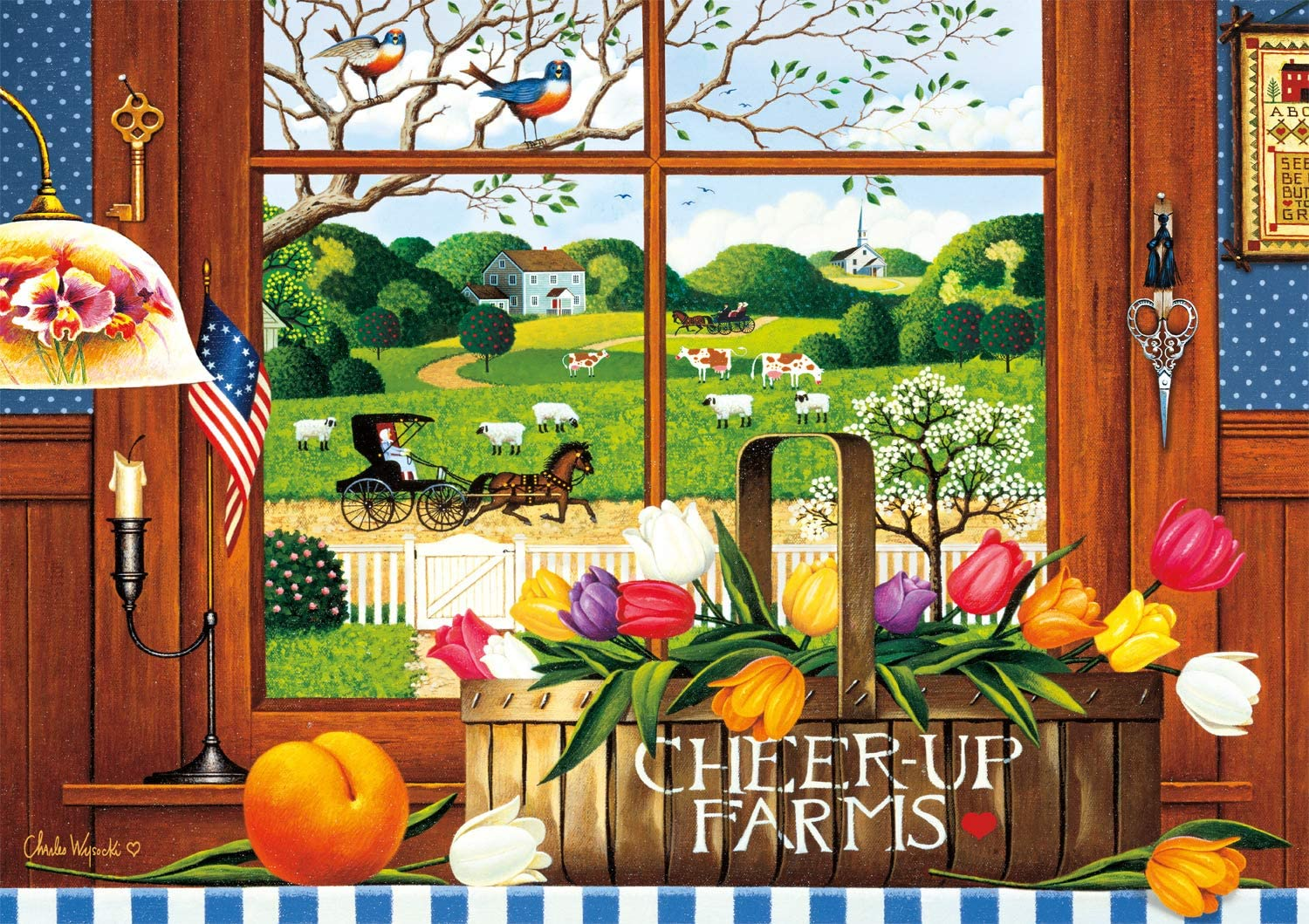 Buffalo Games - Charles Wysocki Low Easy-to-use price A Peach of 300 Large a Day P