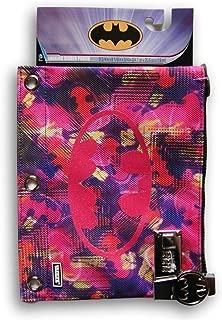 Pink Girls' Batman Themed Locking Binder Pouch