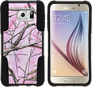 Samsung S6 Edge Plus Case, Full Body Fusion STRIKE Impact Kickstand Case with Exclusive Illustrations for Samsung Galaxy S6 VI Edge Plus SM-G928A, SM-G928V (AT&T, Verizon) from MINITURTLE | Includes Clear Screen Protector and Stylus Pen - Pink Hunter Camouflage