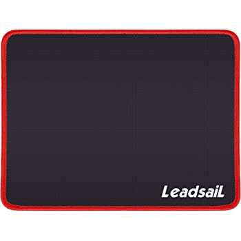 LeadsaiL Mouse Pad with Stitched Edge, Premium-Textured Mouse Mat, Non-Slip Rubber Base, Waterproof Mousepad, for Laptop, Computer & PC, 10.6×8.3×0.15 inches (Red)