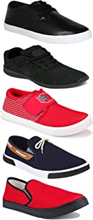 WORLD WEAR FOOTWEAR Sports Running Shoes/Casual/Sneakers/Loafers Shoes for Men Multicolor (Combo-(5)-1219-1221-1140-417-748)