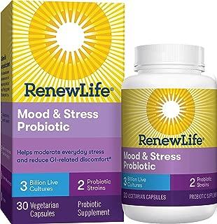 Renew Life® Adult Probiotic - Mood & Stress Probiotic Supplement - Gluten Free - 3 Billion CFU - 30 Vegetarian Capsules