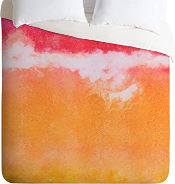 Deny Designs Laura Trevey Tangerine Tie Dye Duvet Cover, Twin/Twin XL