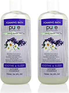 PURE Aromatherapy Lavender and Chamomile Bubble Bath for Women & Kids, Bubble Bath for Kids Tear Free - Nourishes & Soothes, XL Lavender Bubble Bath Hypoallergenic & Sulfate Free Bubble Baths