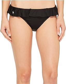 Polo Ralph Lauren - Modern Solid Ruffle Hipster Bikini Bottom