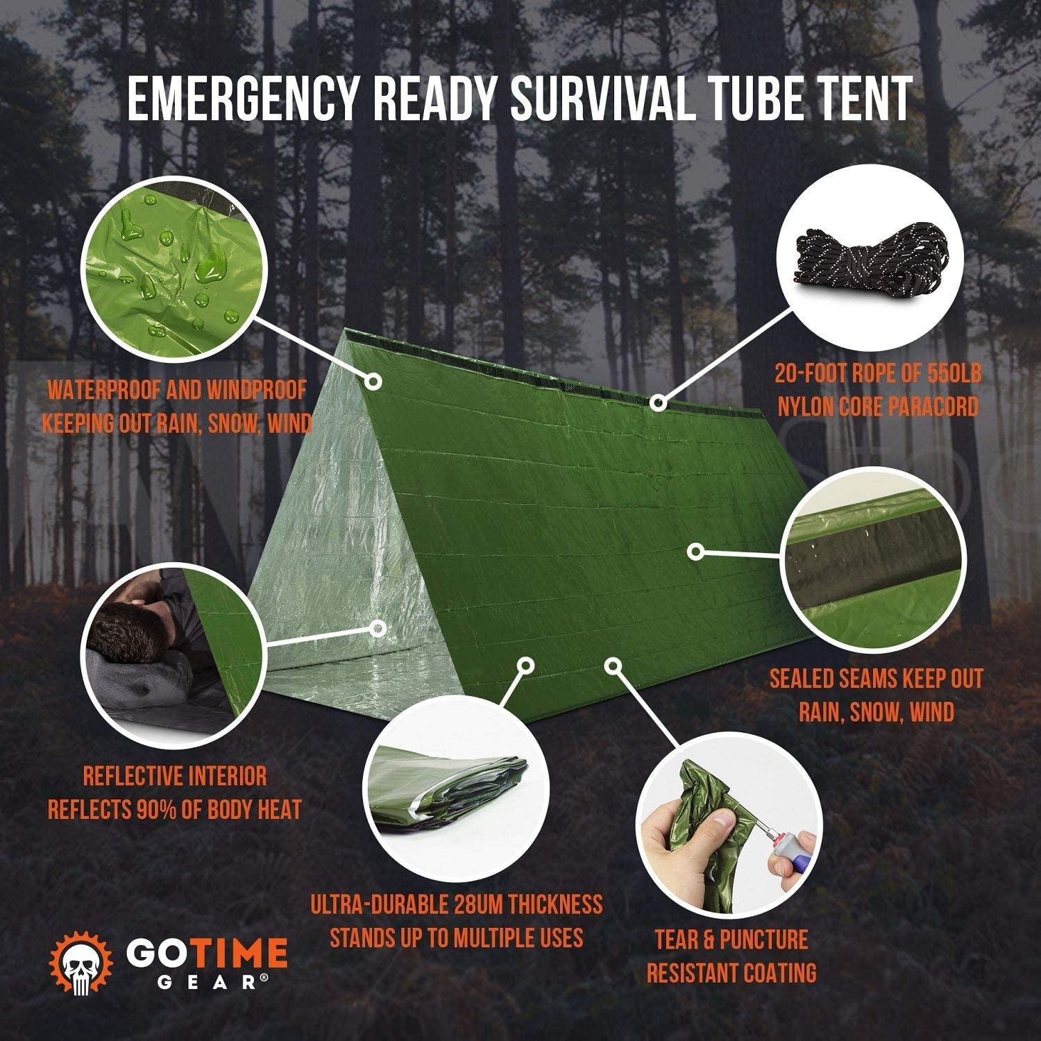 Tube Tent Emergency Survival Shelter