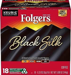 Folgers K Cups Black Silk Coffee for Keurig Makers, Dark Roast, 72 Count