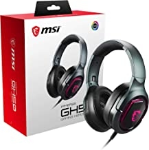 MSI Immerse GH50 7.1 Surround Sound RGB Mystic Light Metal Construction Foldable Headband Design Gaming Headset, Large