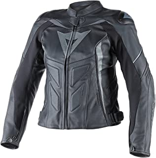 Dainese Women's D1 Avro Leather Jacket (42) (Black/Black/Anthracite)