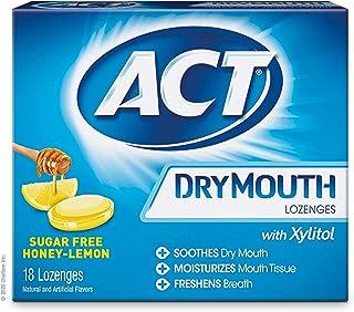 ACT Dry Mouth Lozenges, Honey-Lemon, 18 Count (B07911P26H)