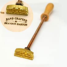 "Custom Logo Wood Branding Iron,Durable Leather Branding Iron Stamp,Wood Branding Iron/Wedding Gift,Handcrafted by Design (1""x1"")"