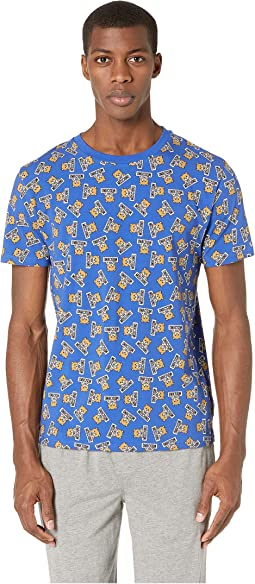 All Over Underbear Slim T-Shirt