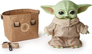 Star Wars The Child Plush Toy, 11-in Yoda Baby Figure from The Mandalorian, Collectible Stuffed Character with Carrying Sa...