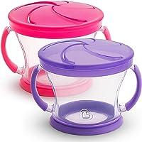 2-Piece Munchkin Snack Catcher (Pink/Purple)