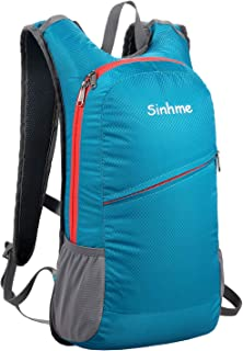 Sinhme Hiking Backpack Daypack Ultralight Outdoor Travel Backpack Small Motorcycle Backpack