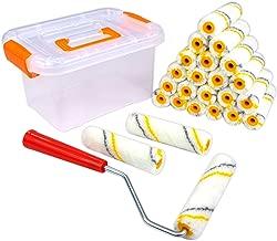 Super Value 26 Piece Multi-Use 4 inch High Density Premium,Mohair Mini Paint Roller,Paint Roller,Home Tool kit,Paint Roller frme,Paint Roller Refill,Paint Roller Edger,Paint Roller for Ceiling,