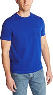 Men's Solid Crew Neck Short Sleeve Pocket T-Shirt