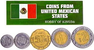 هواية الملوك عملات مختلفة - العملات الأجنبية المكسيكية القديمة والقابلة للتحصيل لجمع الكتب - مجموعات فريدة من المال التذكا...